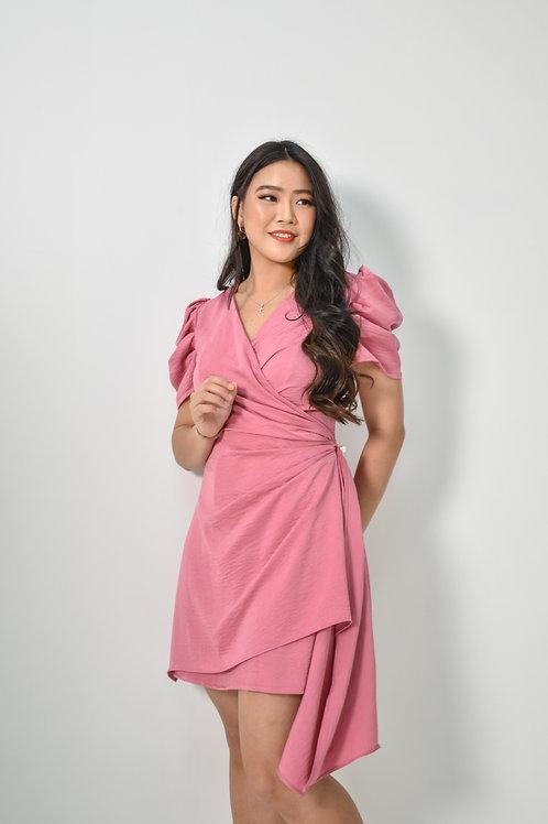 Brianna Puffed-Sleeves Dress