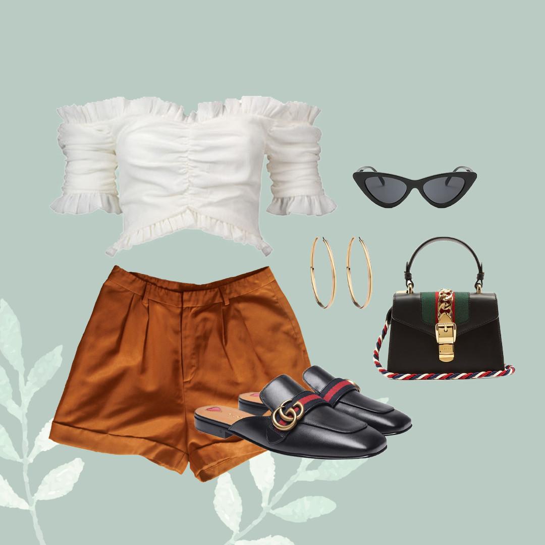 Olivia High-Waisted Shorts (Flatlay - HH