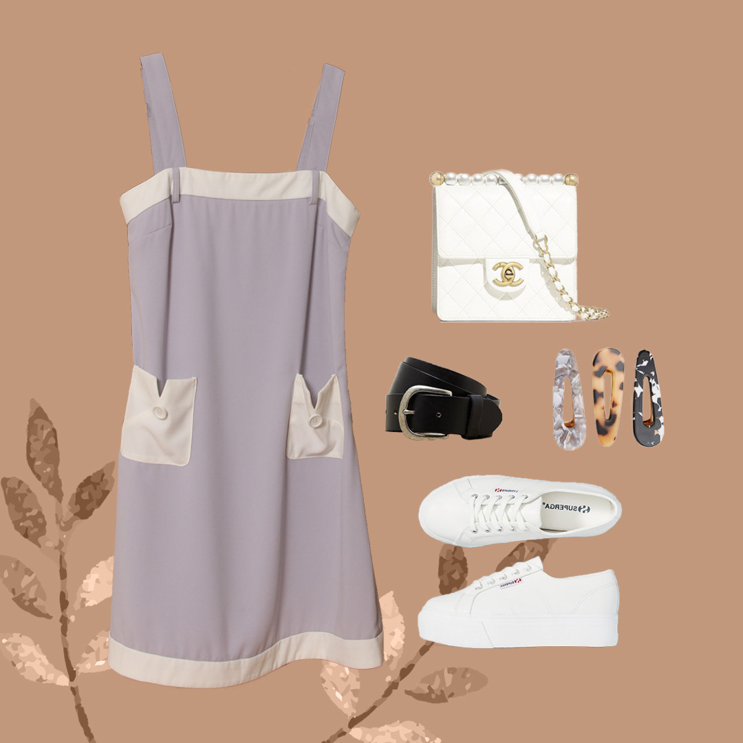 Lindsey Chest-Belt Dress (Flatlay - GG).