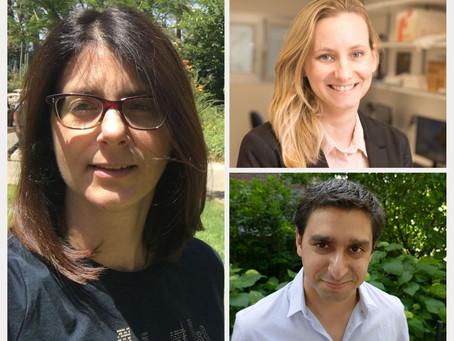 Yael Roichman, Shlomi Reuveni and Lihi Adler Win ERC Grants!