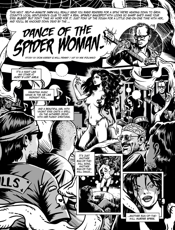 Kreeps Dance Of The Spider Woman Horror Comic Panel