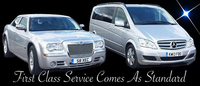 Chauffeur driven executive car and Mercedes Viano