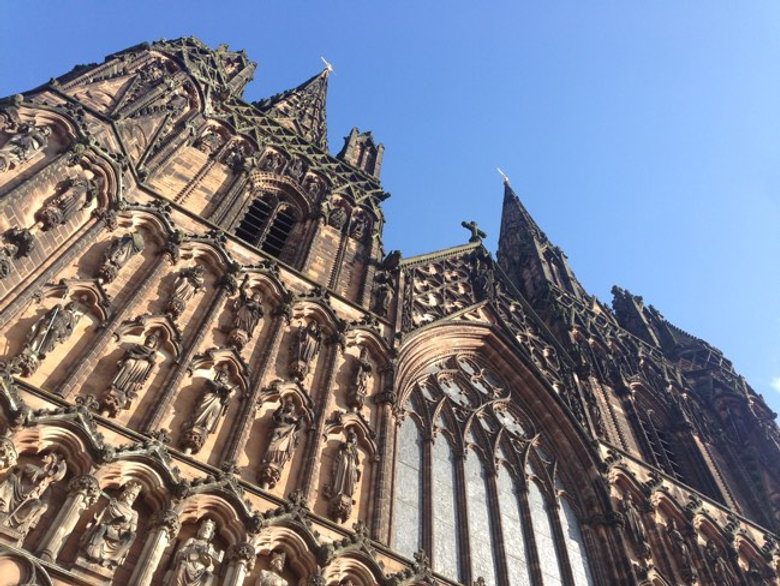Lichfield Cathedral captured by Select Chauffeurs on assignment