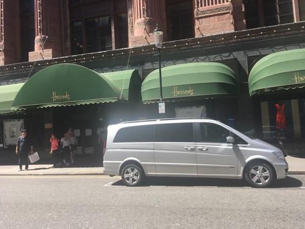 Mercedes Viano MPV outside Harrods