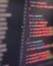 Developer screen with colored website pr