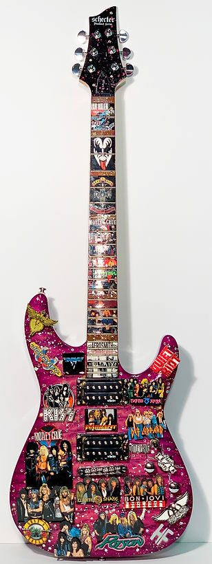 Heather Fazzino Hand Paited Glam Rock Guitar