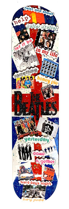 Heather Fazzinio Beatles-Skateboard-Deck