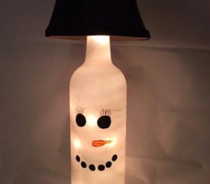 Snowman w/ Black Shade