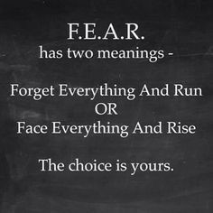 The One About FEAR
