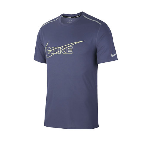 Camiseta Nike Azul logo verde -  BV4645-557