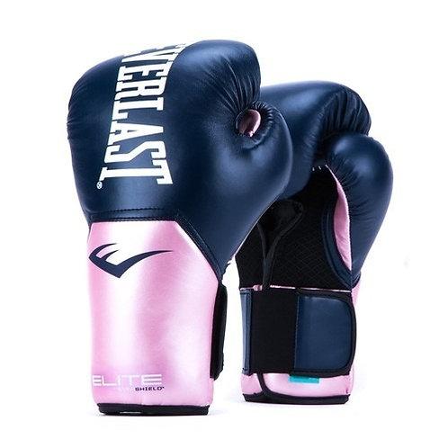Guantes de Boxeo Pro Style Elite Everlast Azul-Rosado P00SM10NA 10, 14 oz