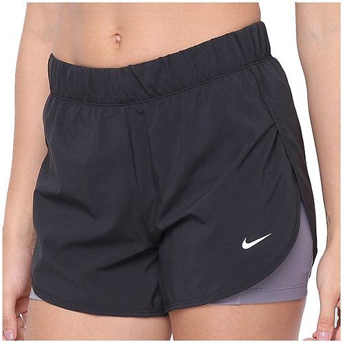 Pantaloneta Nike Negra licra Gris - AR6353-013