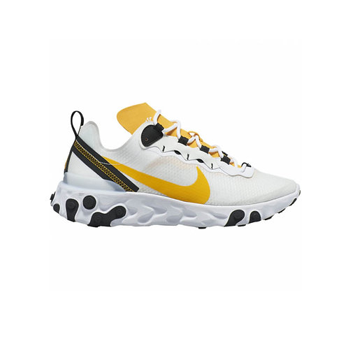 Tenis React Element 55 SE Blanco Amarillo  CI3831-100