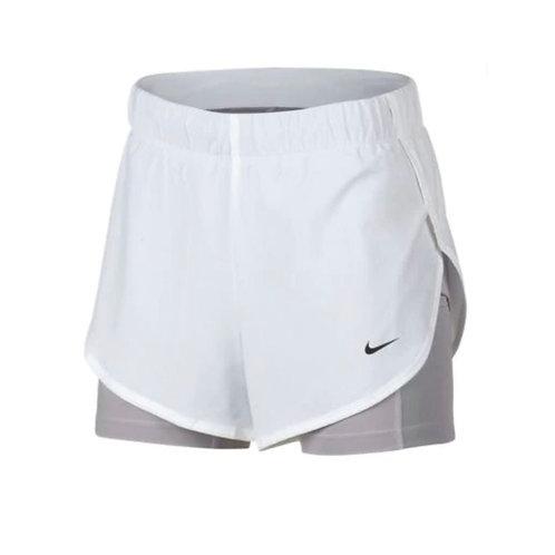 Pantaloneta Nike Blanca licra gris - AR6353-101