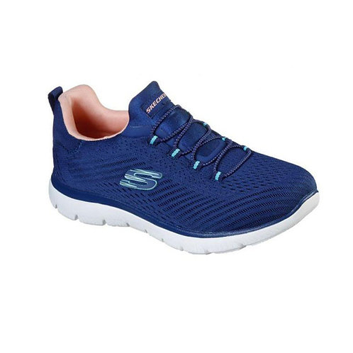 Tenis Skechers Dama azul- salmón FAST ATTRACTION  149036-NVCL