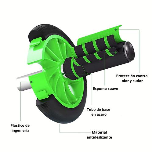 Rodillo abdominal en rueda en GomaGT0515-1