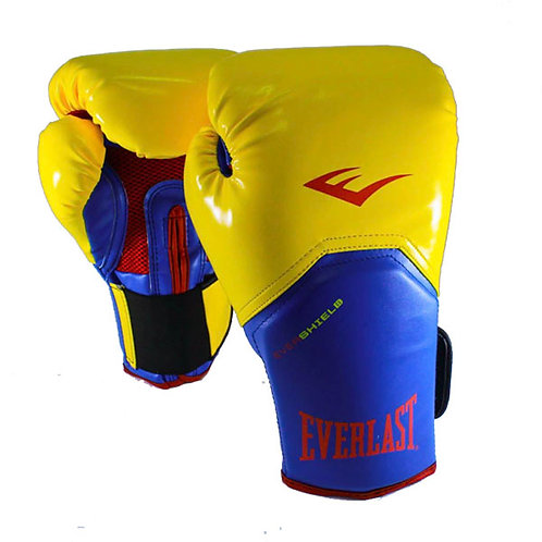 Guantes de boxeo Everlast Azul Amarillo - 25SMY16