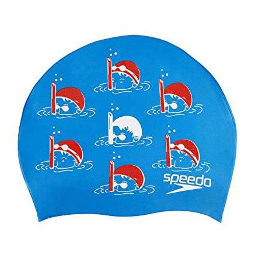 Gorro Natacion Slogan Print Cap Azul Junior 08386-C524