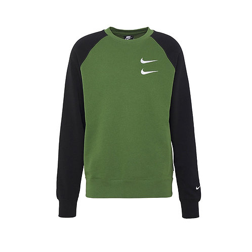 Busi algodón cuello redondo verde con negro - CJ4871-326