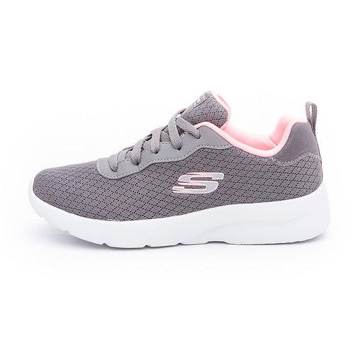 Tenis Skechers Gris blanco rosado