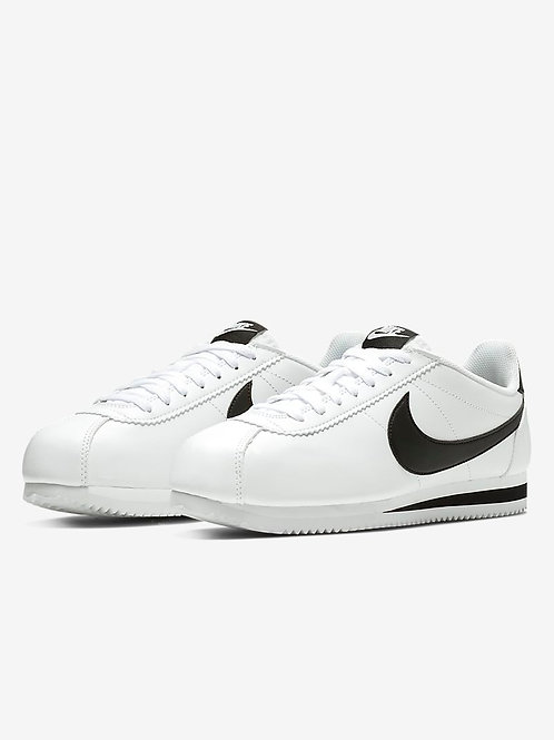 Tenis Nike Cortez leather blanco y negro 807471-101