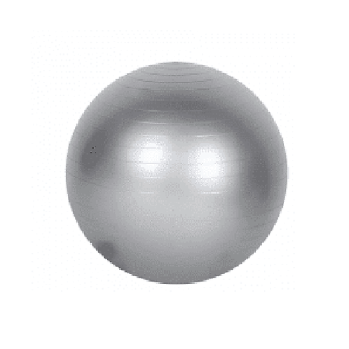 Pelota yoga pilates 55cm con inflador color gris gm55 gris