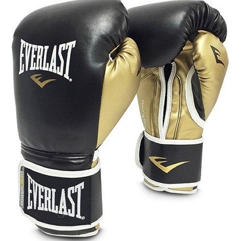 Guantes de Boxeo Powelock  Negro por dorado logo Blanco 16oz P00000723 BLACK-GOL