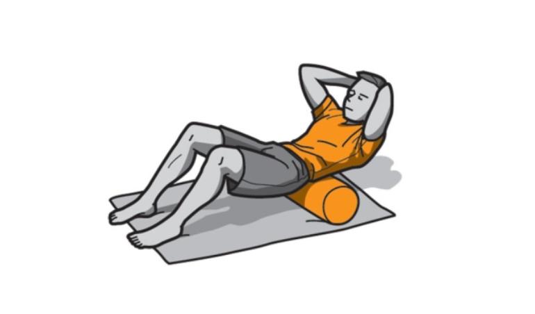 Foam Roller ejercicio lumbar