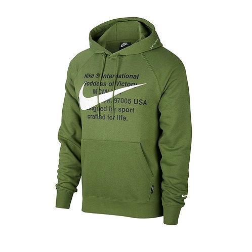 Hoddie Verde con Blanco - CJ4863-326