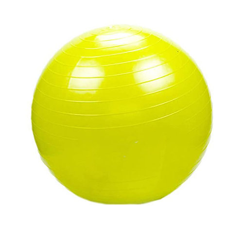 Pelota yoga pilates 65cm con inflador color gm65 amarillo