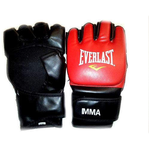 Guantes Everlast MMA Grappling Gloves Rojo con Negro- 7560SM