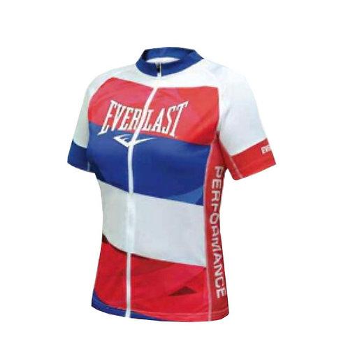 Jersey ciclismo para mujer Blanco rojo azul Everlast EV77XBL913