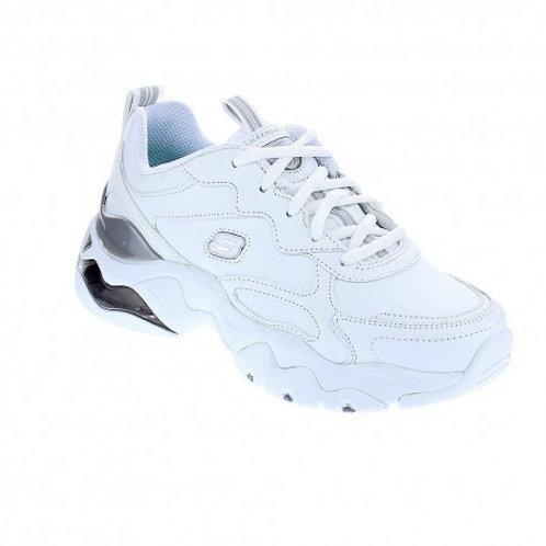 Tenis Skechers Dlite blanco por gris 149088-WSL