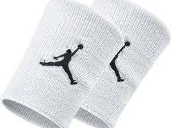 Muñequeras Nike Jordan Blancas