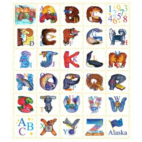CW Alaska Alphabet Panel-White