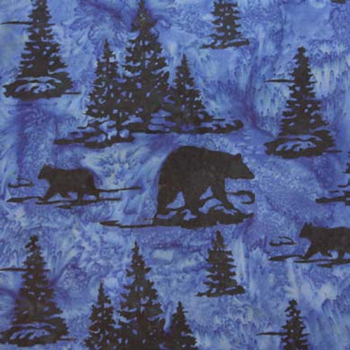 HF Batik Bears in Trees