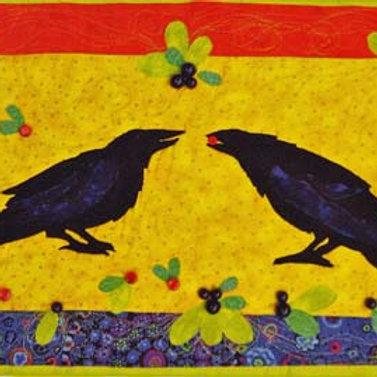 Berry Button Ravens Pattern