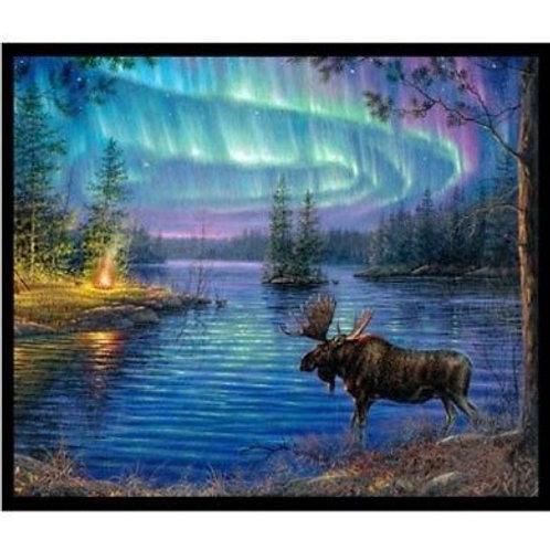 ES Northern Lights Moose Panel