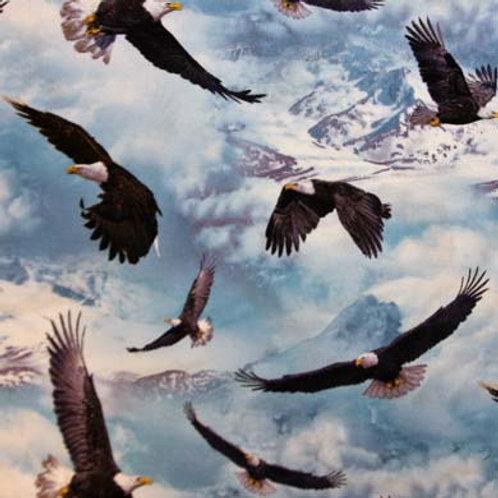 ES Eagle Over Snowy Peaks
