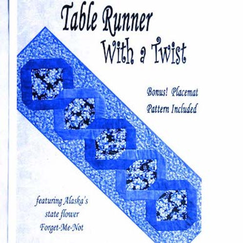 Table Runner With A Twist Pattern