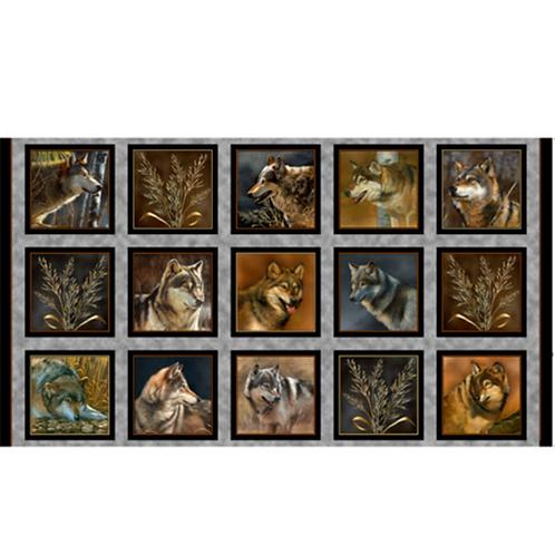 QT Majestic Wolves Panel