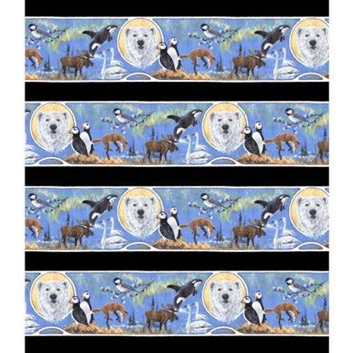 PB Wildlife Nouveau Border Print