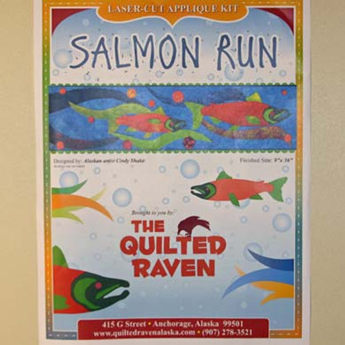 Salmon Run Lasercut Applique Kit