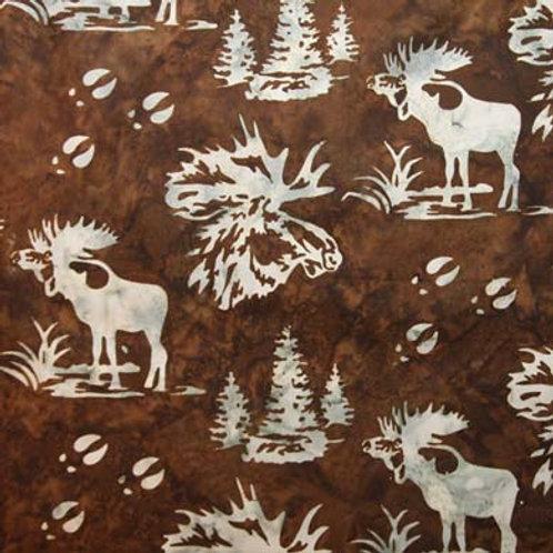 HF Batik Moose in Trees