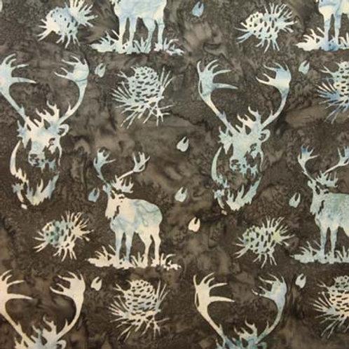 HF Batik Elk and Pinecones