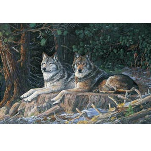 NC Resting Point Wolves Panel