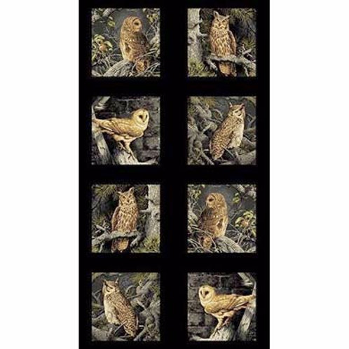 AN Majestic Woods Printed Panel-Owls