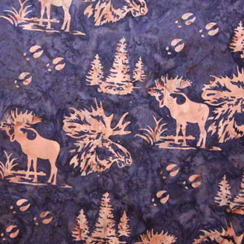 HF Batik Moose in Trees