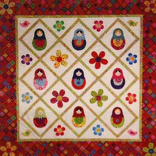 Matryoshka Russian Nesting Doll Quilt Pattern