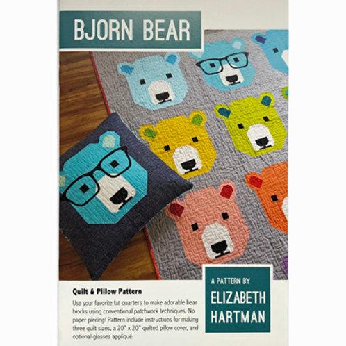Bjorn Bear Quilt and Pillow Pattern